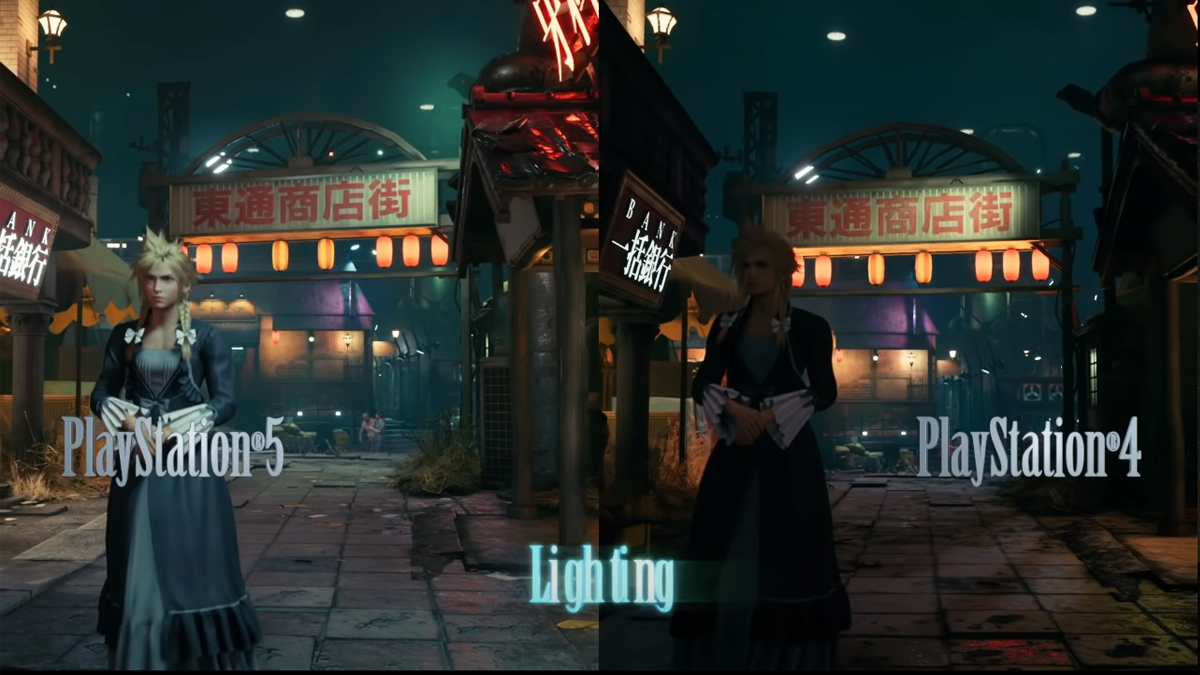 Final Fantasy 7 Remake Intergrade Lighting