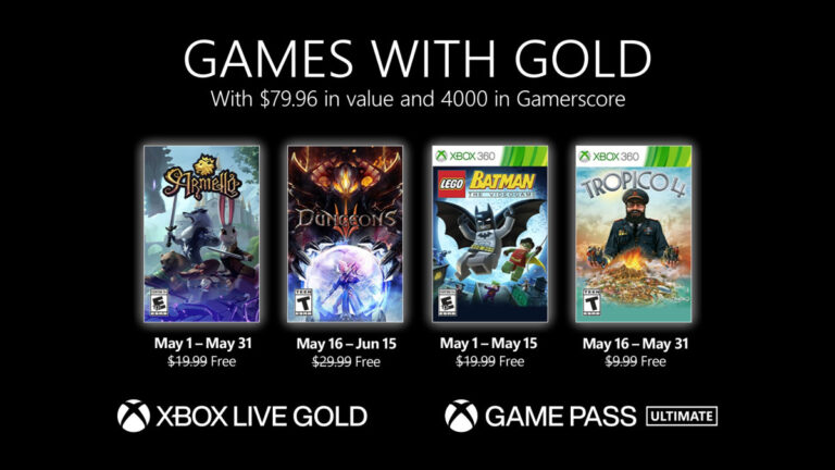 Xbox Games for may 2021